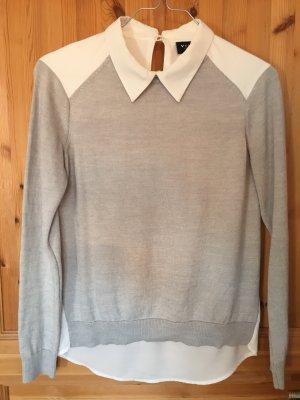 Vila Inserción de blusa blanco-gris claro