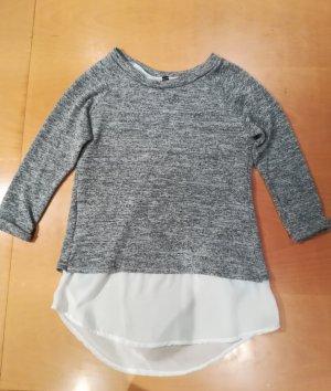 Madonna Jersey de punto blanco-gris