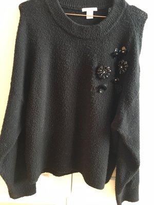 H&M Sweter z grubej dzianiny czarny