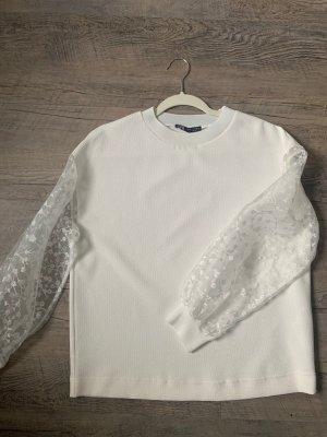 Pullover mit Chiffon-Ärmeln ZARA