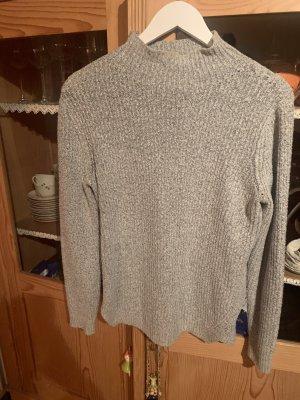 Pieces Długi sweter szary-jasnoszary