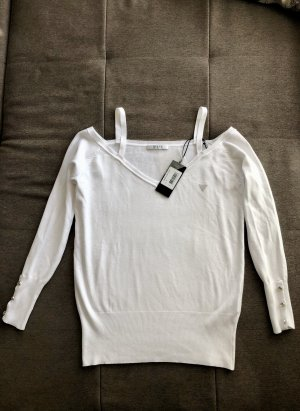 Guess V-Neck Sweater white