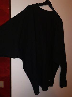 100% Fashion Jersey de cuello redondo negro
