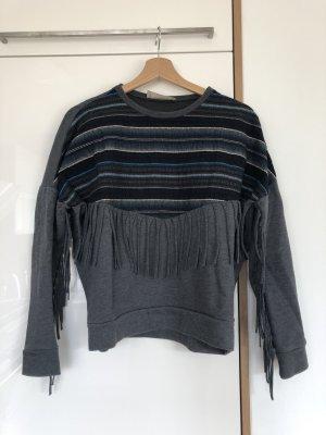 Pullover mit Fransen von Zara