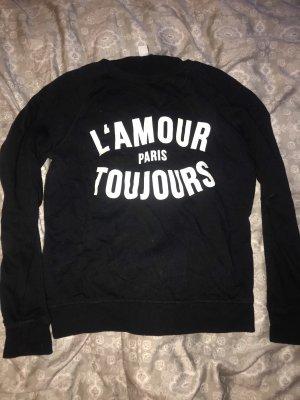 Pullover mit französischer Aufschrift