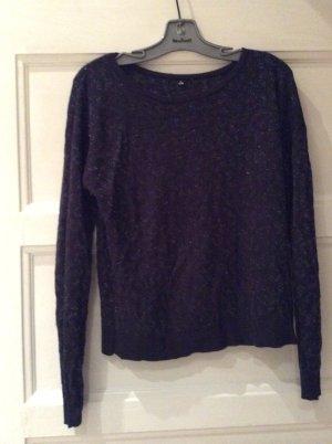 Pullover mit Glitzer und Muster
