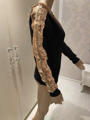 Pullover mit gold Pailletten einheitsgrösse neu mit Etikett