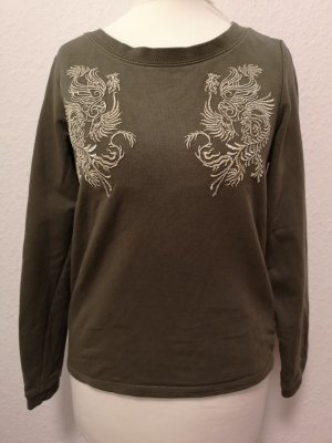 Pullover mit gold Stickerei