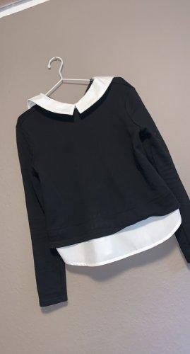 SheIn Maglione twin set nero-bianco