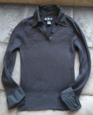 Pullover mit Hemdkragen und -Ärmelbund