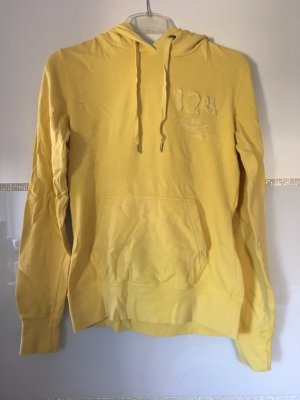 Pullover mit Kapuze von H&M in gelb Größe S