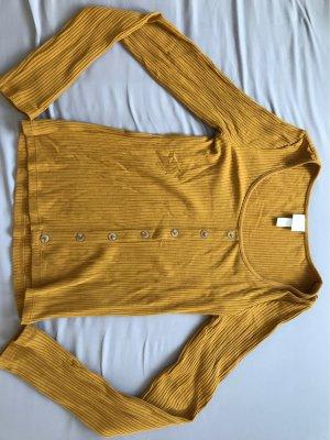 H&M Prążkowana koszulka złotopomarańczowy