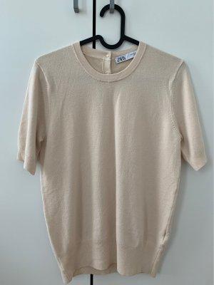 Zara Top lavorato a maglia crema