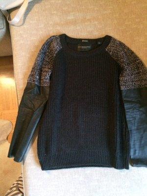 Pullover mit Lederärmeln