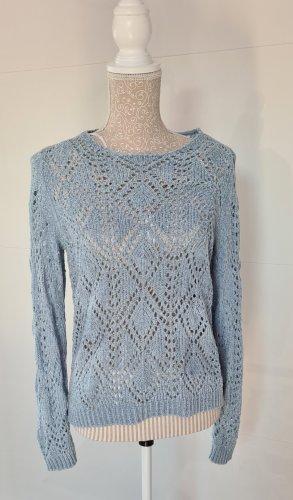 Jacqueline de Yong Maglione lavorato a maglia azzurro