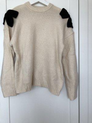 Zara Maglione di lana nero-beige