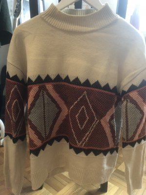 Norwegian Sweater oatmeal-orange
