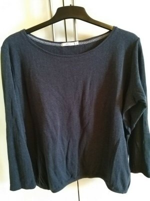 Cecil Crewneck Sweater dark blue cotton