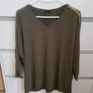 Laura Torelli V-Neck Sweater dark green-forest green