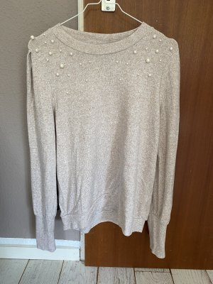 Gina Tricot Pull tricoté blanc cassé-crème
