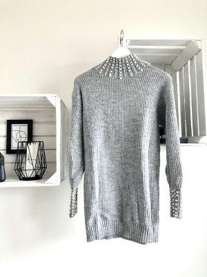 Pullover mit Perlen / Statementpullover