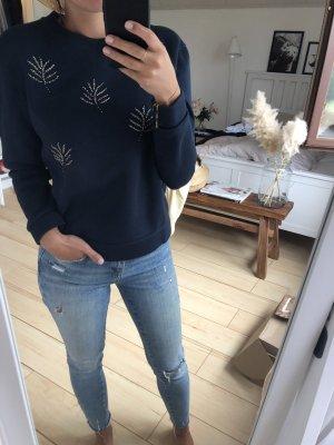 Pullover mit Perlenbestickung