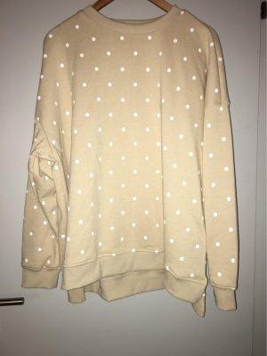 Pullover mit Punkten in beige