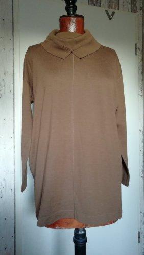 Marc Cain Jersey largo marrón claro lana merina
