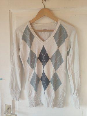Pullover mit Rautenmuster M