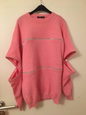 Bershka Jersey largo rosa