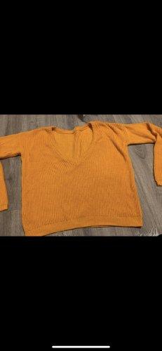 Pullover mit rippenstrick