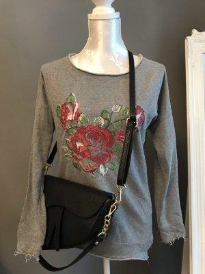 Pullover mit Rosenmuster Grey Flowers Cozy