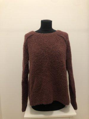 Abercrombie & Fitch Kraagloze sweater bruin-paars