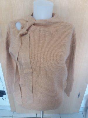 Vero Moda Sweter z grubej dzianiny beżowy Wełna
