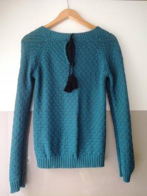 Pullover mit Schlüssellochausschnitt