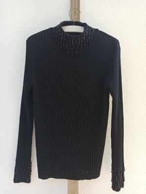 Apart Sweter z dzianiny czarny