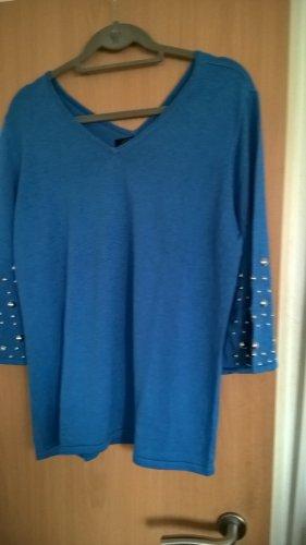 Brian Rennie V-Neck Sweater azure silk