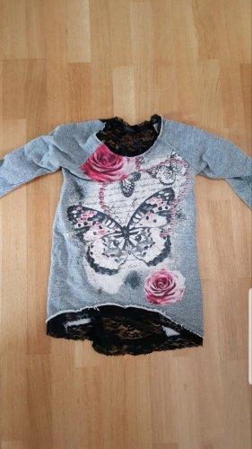 Pullover mit Spitze am Rücken