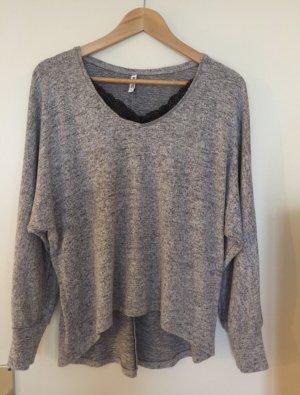 Colosseum V-Neck Sweater black-grey