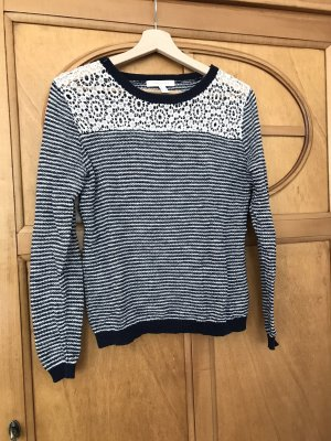 Springfield Knitted Sweater blue-white