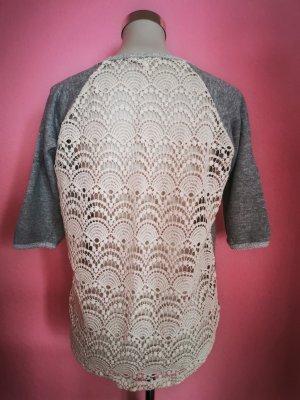 Monteau Los Angeles Crochet Sweater white-grey