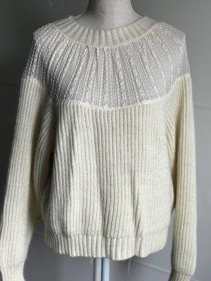 Pullover mit Spitze von Zara