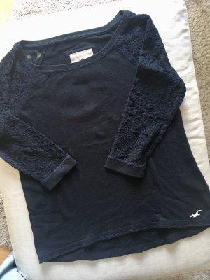 Pullover mit Spitzenärmeln | Hollister | dunkelblau