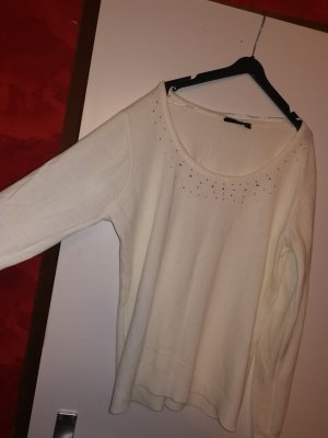 Blue Seven Sweter z okrągłym dekoltem biały