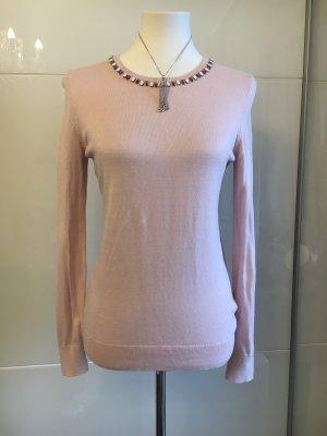Ann Taylor Crewneck Sweater dusky pink-pink