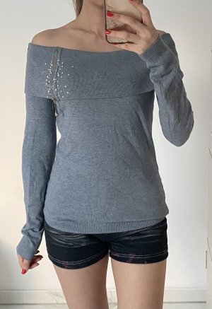 Anny fashion Knitted Sweater grey