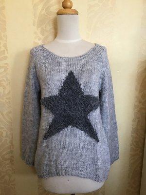 Pullover mit Stern,grau,GR.S/M