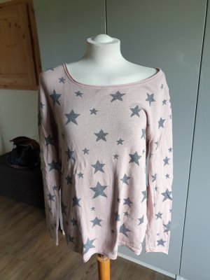 Best Connections Maglione oversize bianco sporco-rosa antico