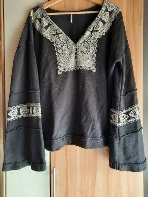 Free People Sweter oversize Wielokolorowy Bawełna