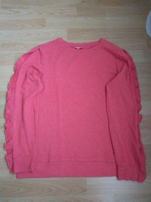 Pullover mit Stoffbesatz an Ärmel